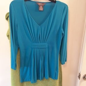 Women's Pleated Front  Shirt - Size Small (4-6)